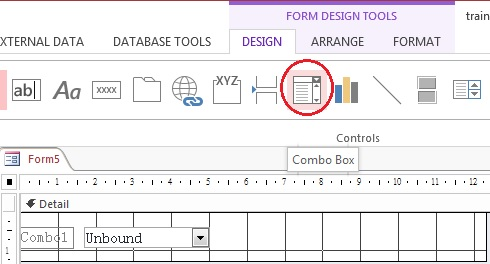 Access Form Combo Box and save selected value