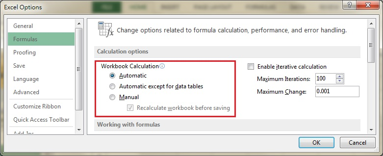 Automatic calculation excel macro