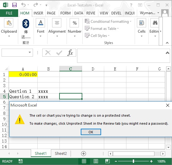 Create a countdown clock in excel