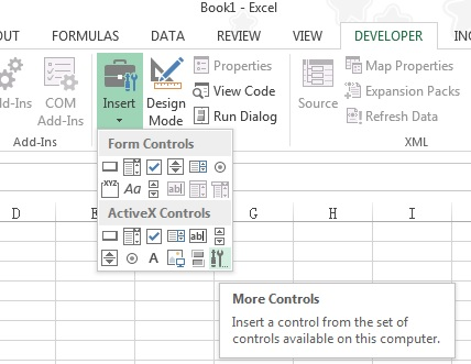Excel difference between Form Controls vs ActiveX Controls