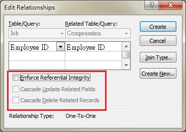 Image result for create relationship Referential Integrity Rule in ms access 2003