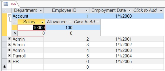 Move data from Excel to Access