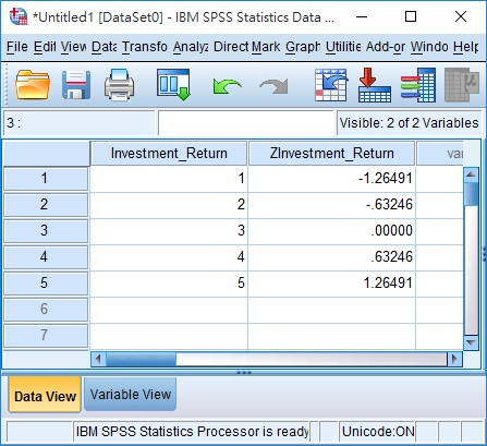 Calculate Z Score and probability using SPSS and Excel