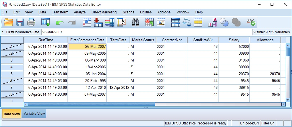 SPSS select cases 11