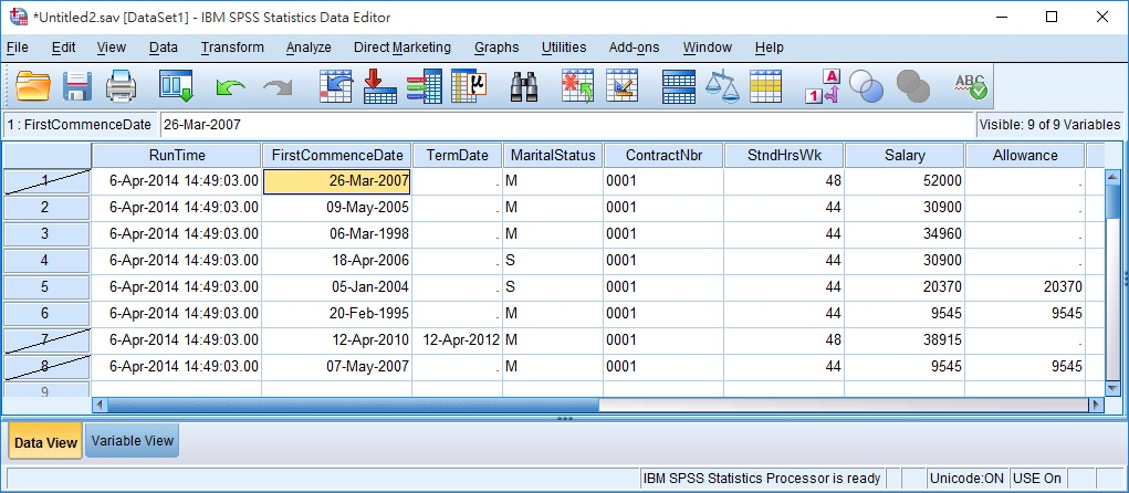 SPSS select cases 14