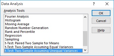 how to find t statistic test on excel