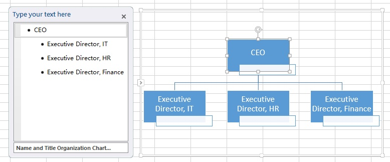 Excel create organization chart 06