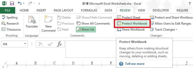 excel protect workbook with password 01