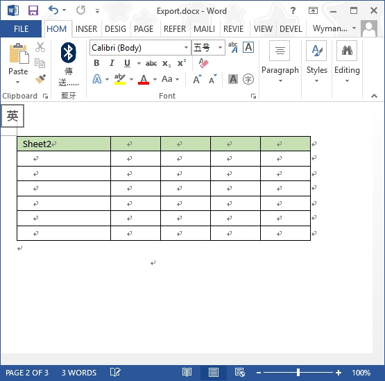 export Excel to Word 06