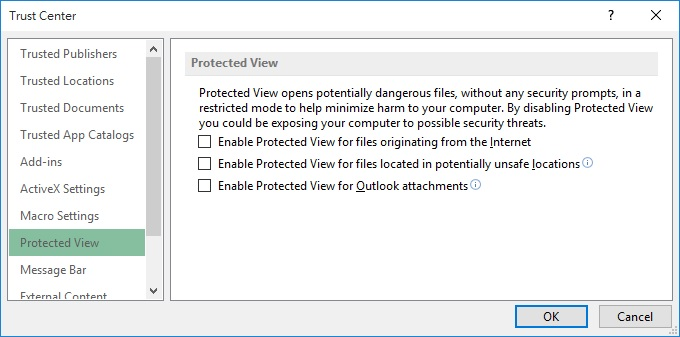 Enable and Disable Protected View in Excel 02