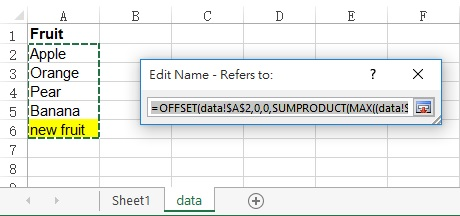 Excel dynamic Data Validation list 08