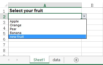 Excel dynamic Data Validation list 10