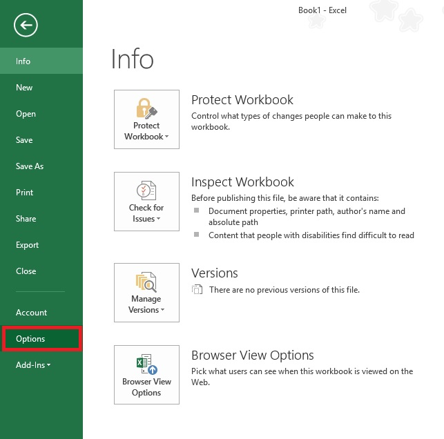 Excel set default font 02