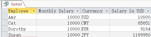 Get exchange rate using VBA Access Function 01