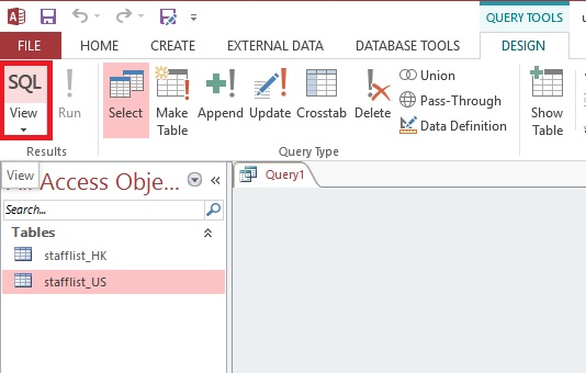 Use UNION and UNION ALL in Access Query 02