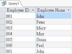 Use UNION and UNION ALL in Access Query 06