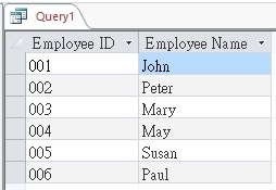 Use UNION and UNION ALL in Access Query 07