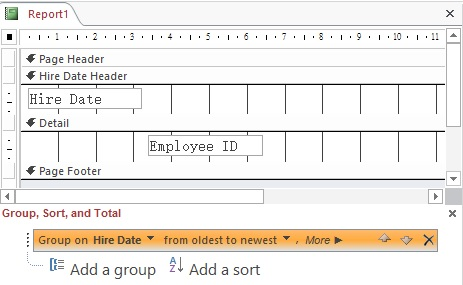 Access Report group by date problem