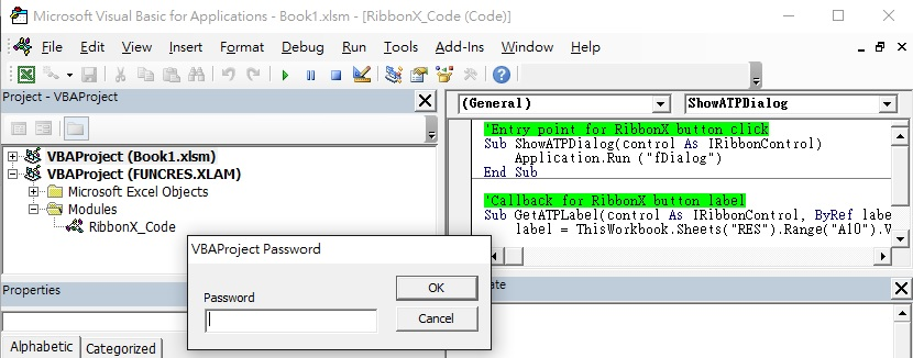 Protect VBA code with password 05