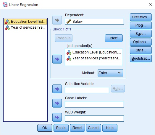 SPSS Excel Multiple Regression 05