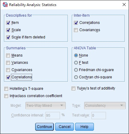 SPSS test reliability using Cronbach's Alpha 06