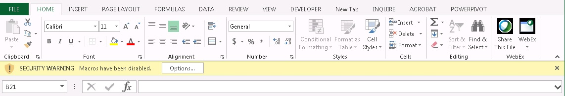 excel macros disabled