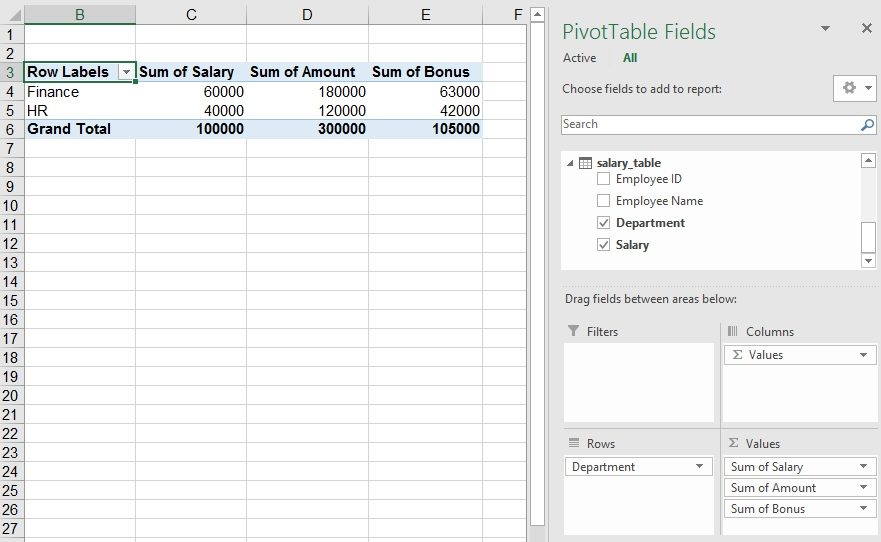 powerpivot create relationship between tables in access