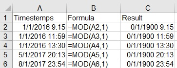 date in excel 2016