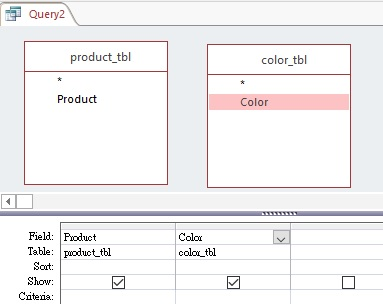 Microsoft Access produce Cartesian product with Cross Join